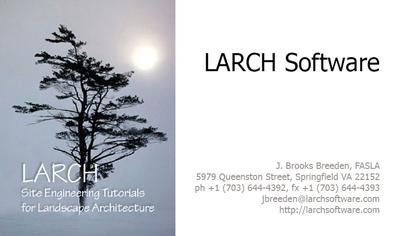 LARCH Software Business Card