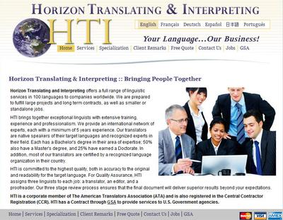 Horizon Translating and Interpreting